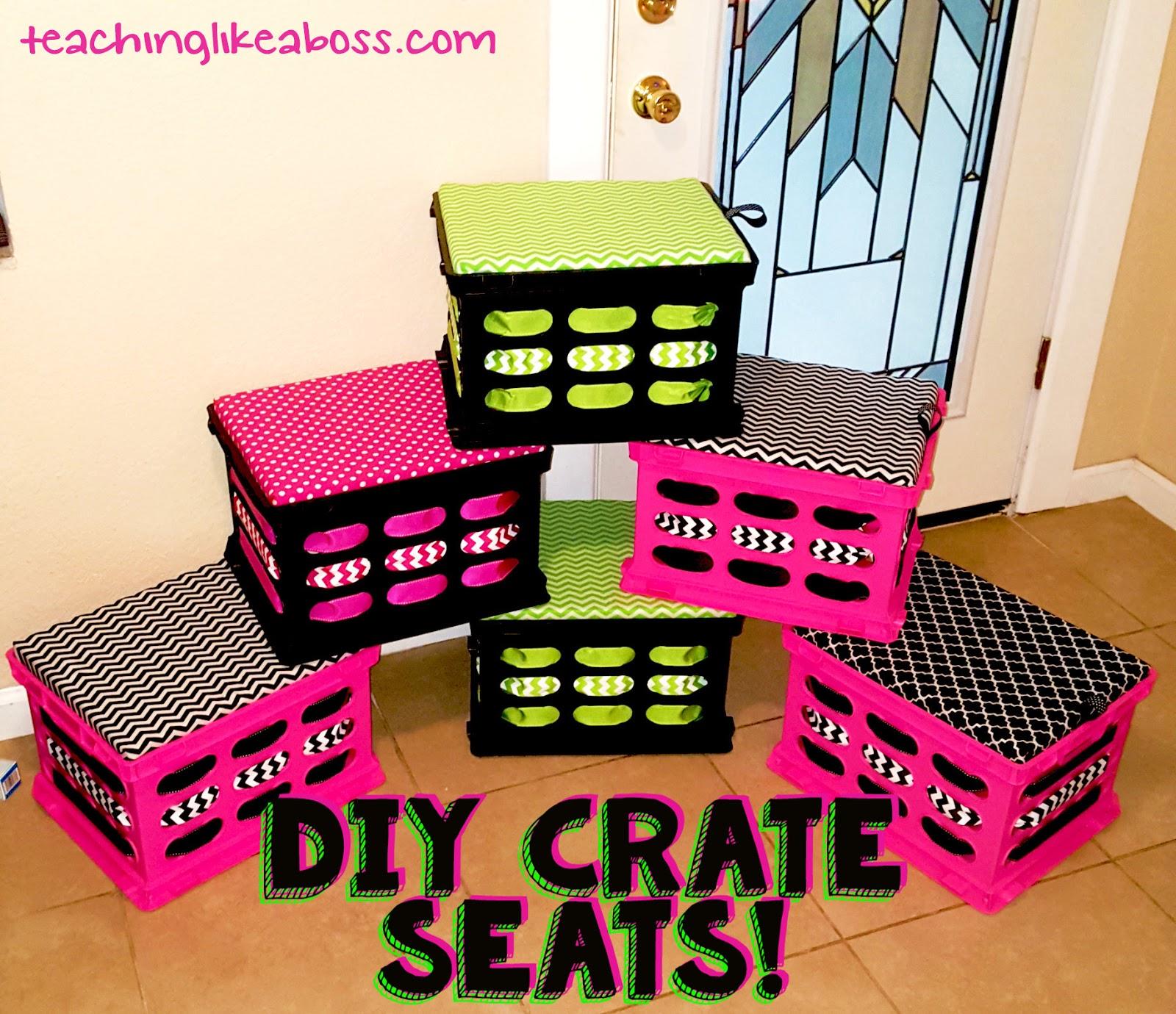 teaching like a boss d i y crate seats