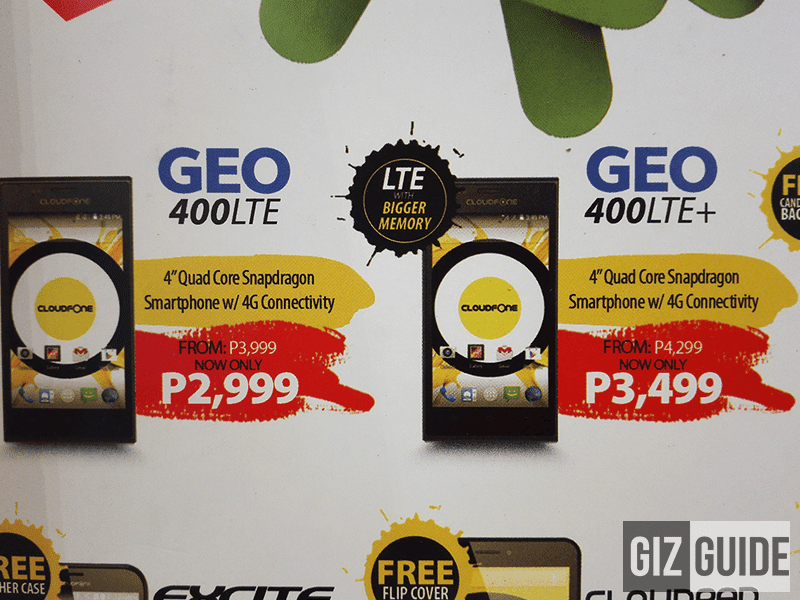 CloudFone Geo LTE And Geo LTE Plus Gets A Price Cut, Down To 2999 And 3,499 Pesos!