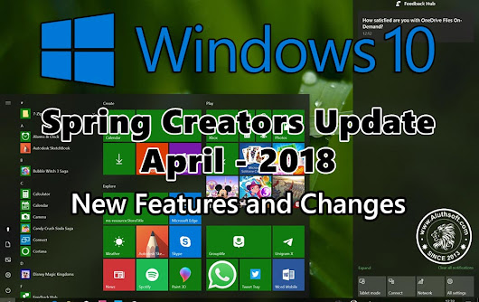 What's new in Windows 10 Spring Creators Update - April 2018