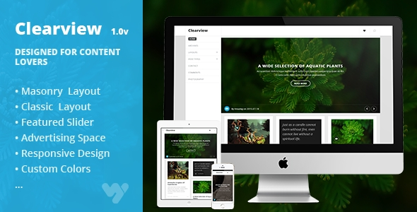Clearview - Responsive Personal WordPress Blog Theme