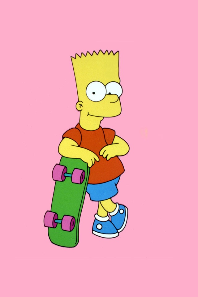 Dali Iphone Wallpaper Iphone Wallpapers Pictures Bart Simpson Skateboarding