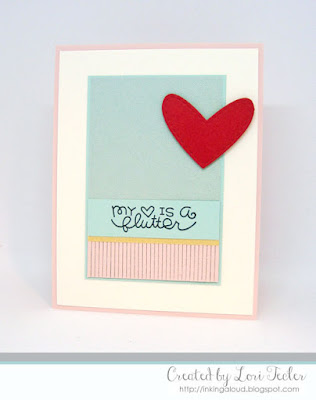 My Heart Is A Flutter card-designed by Lori Tecler/Inking Aloud-stamps from Paper Smooches