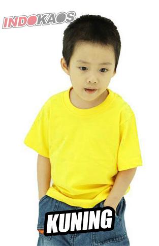 Kaos Polos Anak Kuning