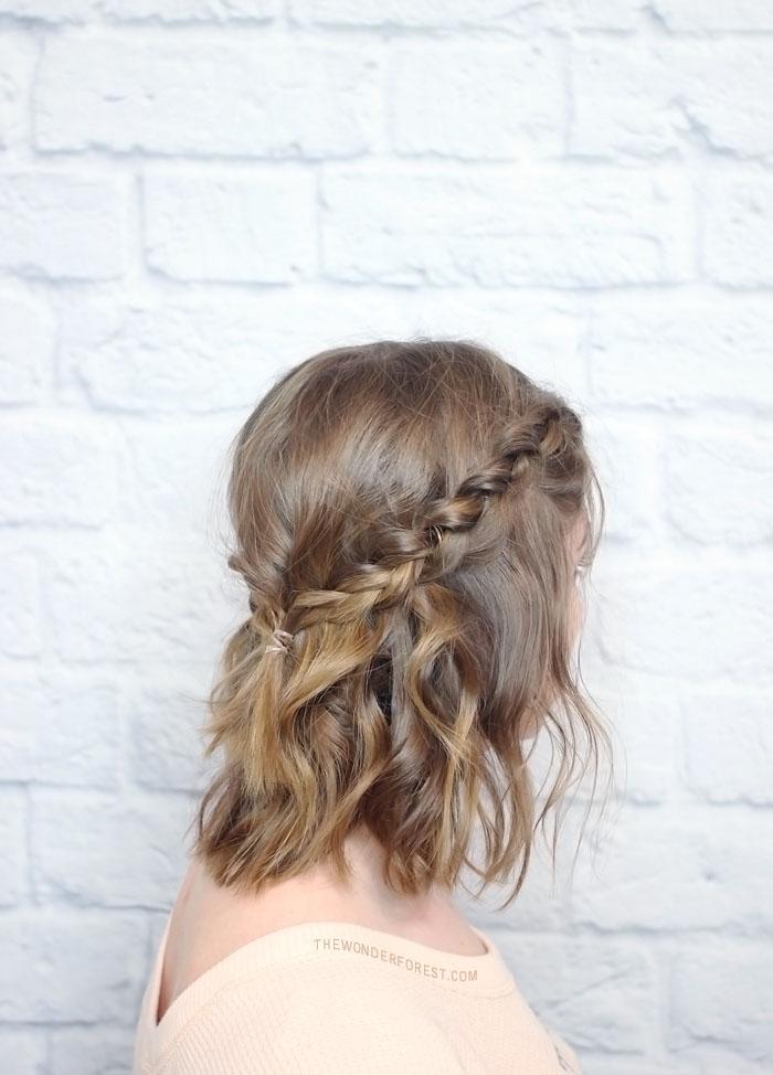 Messy Braided Crown for Shorter Hair Tutorial | Wonder ...