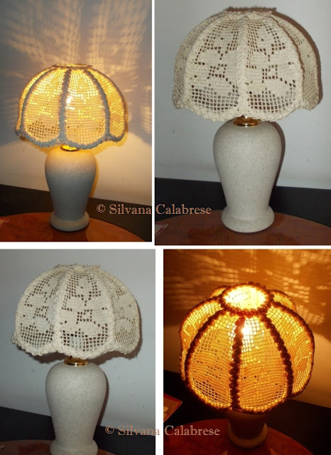 Crochet lampshade bedside lamp abat-jour Loving San Francisco