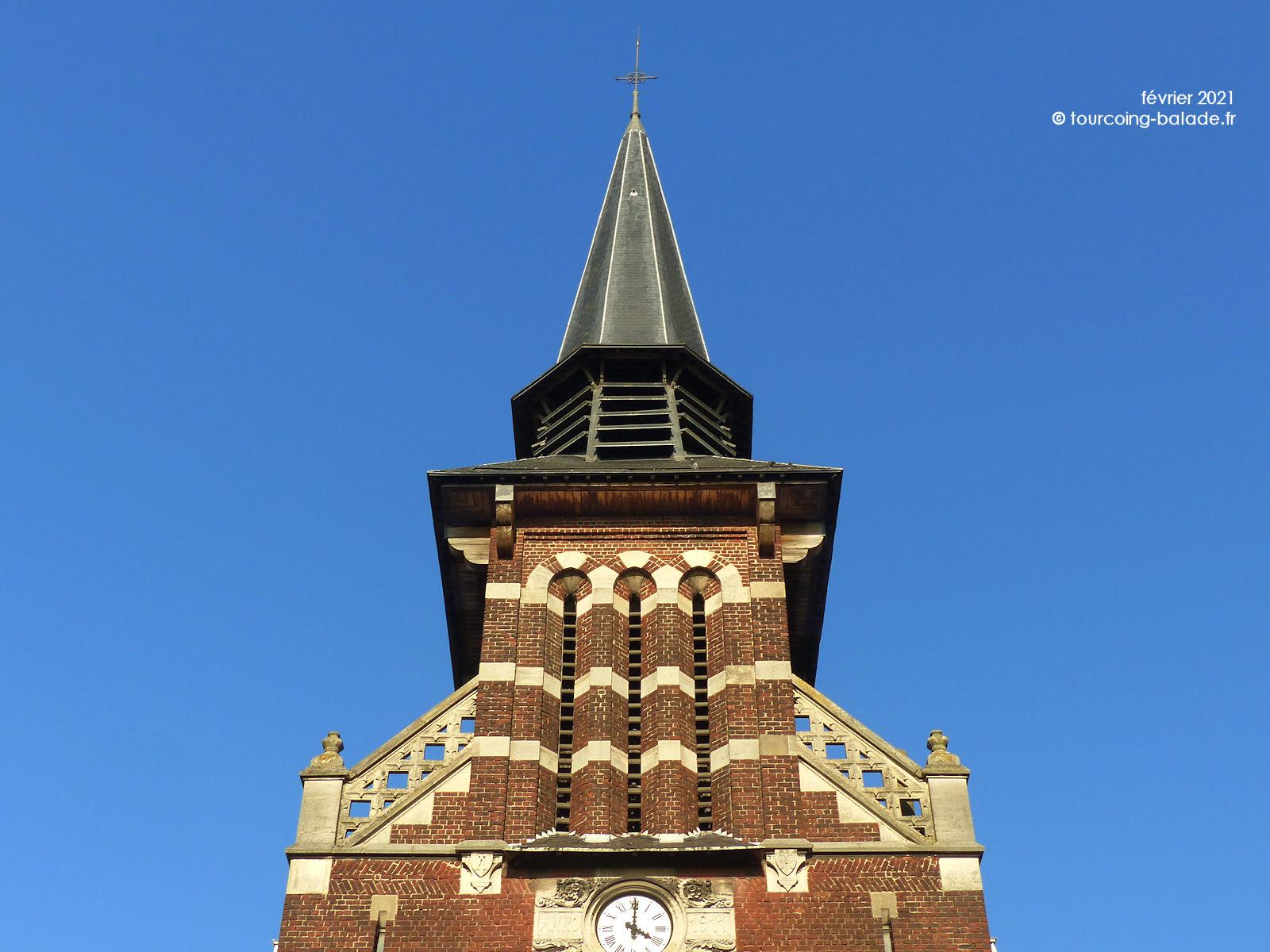 Flèche de l'église Notre-Dame de Consolation, Tourcoing 2021