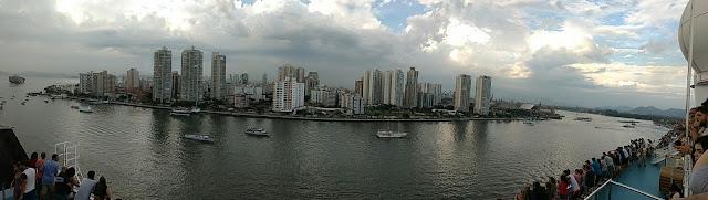 saindo do porto de Santos