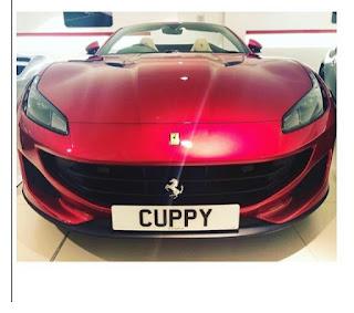 Dj Cuppy Shows Off New Customized Ferrari