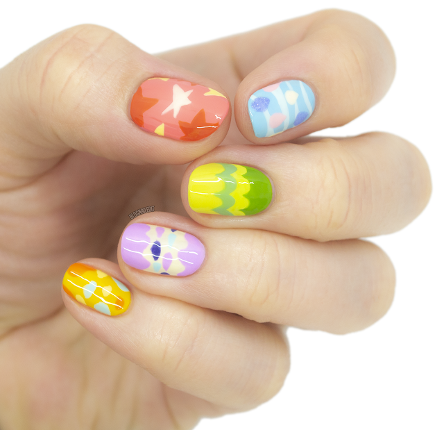 animal crossing bunny day egg nail art