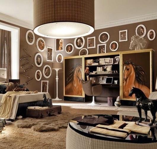 cuarto temático caballos