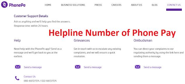 Phonepe Customer Care Helpline Number