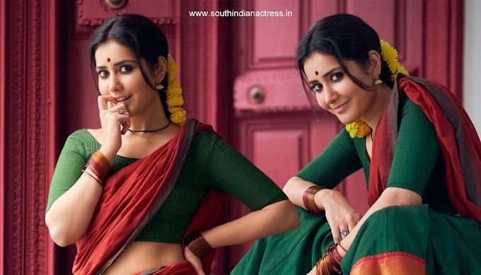 Actress Raashi Khanna in Traditional Half Saree Photos
