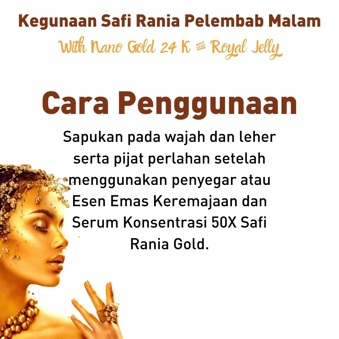Safi Rania Gold Krim malam