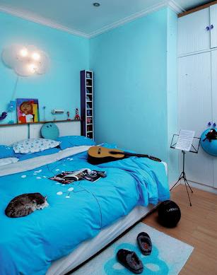 Warna Cat Kamar Tidur Minimalis Biru Pink Dan Mewah