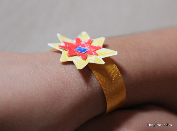 handmade rakhi design
