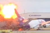 Bring 23 tons of mail, FedEx plane caught fire on landing in Hollywood