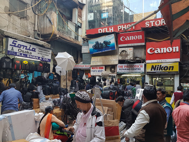 delhi photo store camera shopping equipment photo market old delhi chandni chowk india
