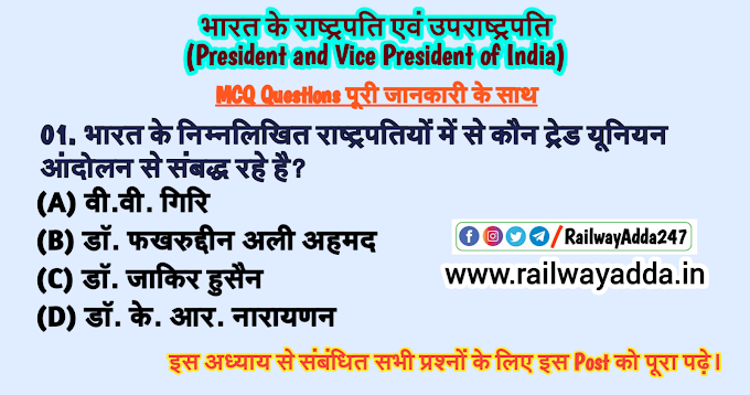 भारत के राष्ट्रपति एवं उपराष्ट्रपति : भारतीय राज्यव्यवस्था ( President and Vice President of India: Indian Polity )