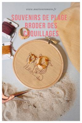 Broder avec des coquillages - Marion Romain
