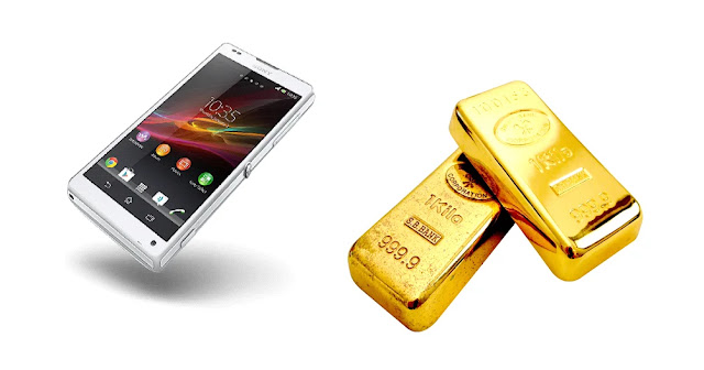 طريقة استخراج الذهب من الهاتف