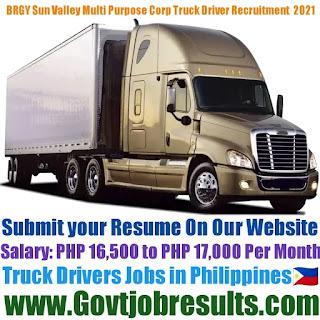 BRGY Sun Valley Multi Purpose Cooperative Truck Driver Recruitment 2021-22