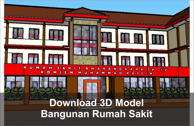 Download 3D Bangunan Rumah Sakit