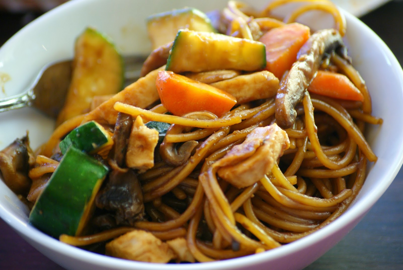 Sticky Asian Noodle Stir Fry