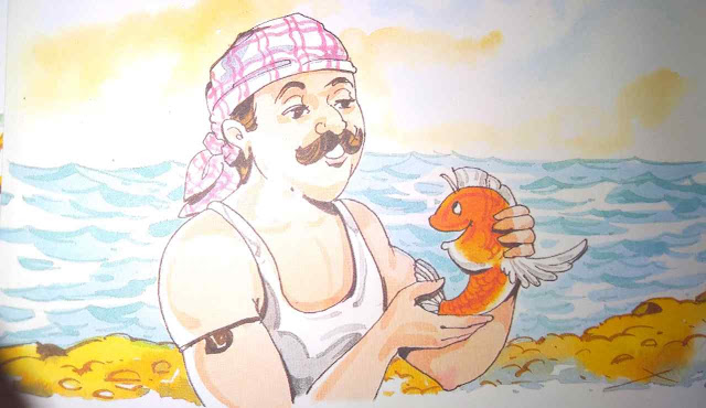 मछुआरा और छोटी मछली ( Hindi Stories For Class 2 )