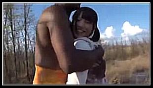 아프리카 원주민과 미소녀의 야외섹스 2