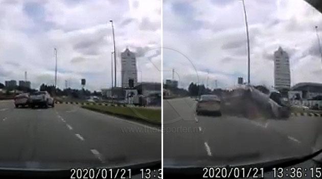 (Video) 'Sini memang hotspot untuk driver yang cell otaknya tak berhubung' - Navara kemalangan disebabkan Preve masuk lorong U-Turn secara melulu