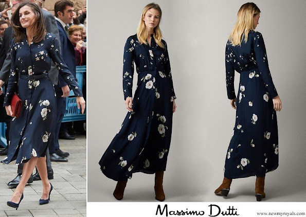 Queen Letizia wore a new floral print dress by Massimo Dutti