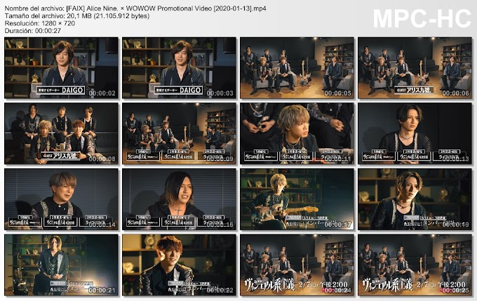 Alice Nine. × WOWOW Promotional Video [2021-01-13]