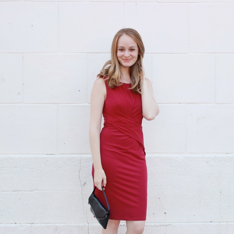 Shake the Tree Boston Red Velvet Fall Dress