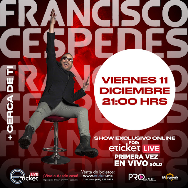 "Francisco Céspedes regresa al streaming con un show ""Más cerca de ti"""