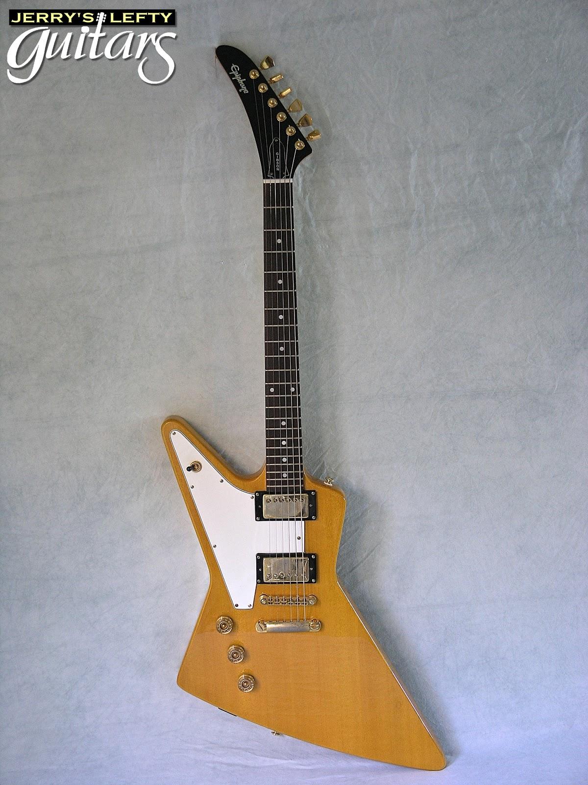 jerry 39 s lefty guitars newest guitar arrivals updated weekly 1999 epiphone korina explorer. Black Bedroom Furniture Sets. Home Design Ideas