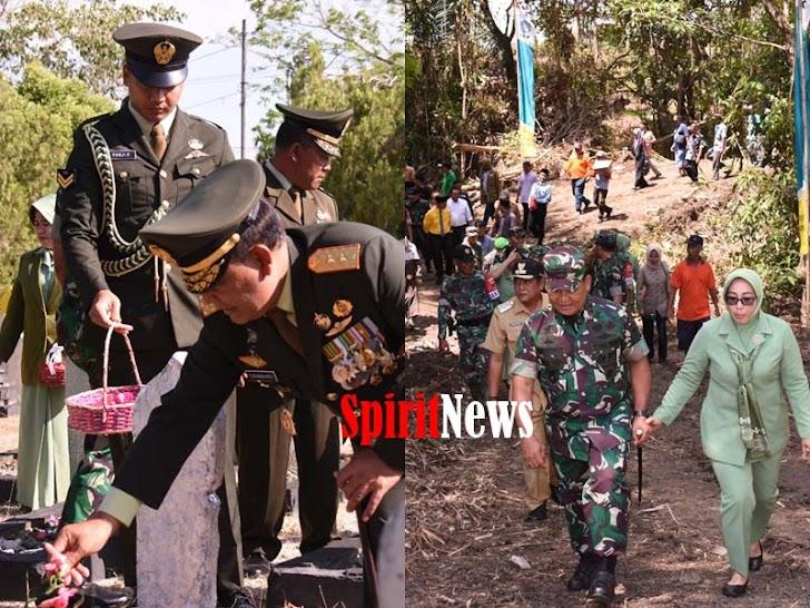Pangdam XIV/Hsn Pimpin Ziarah Nasional Jelang HUT TNI Ke-74 Dan Peninjauan Lokasi TMMD Ke-106 TA 2019