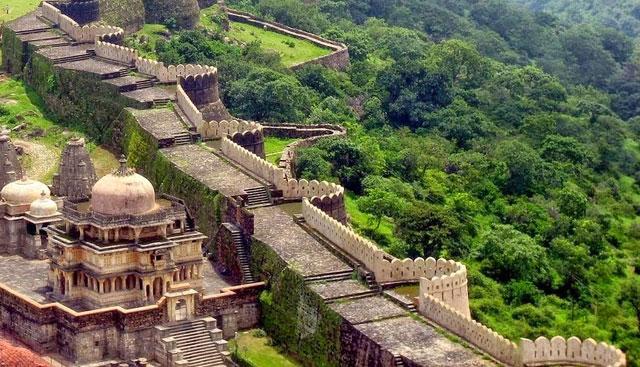 Tembok Kumbhalgarh, India