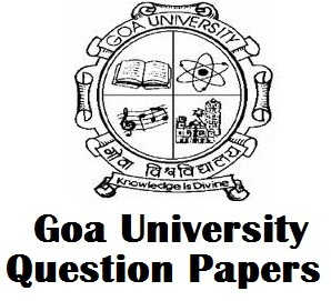 Goa University Engineering Question Papers PDF