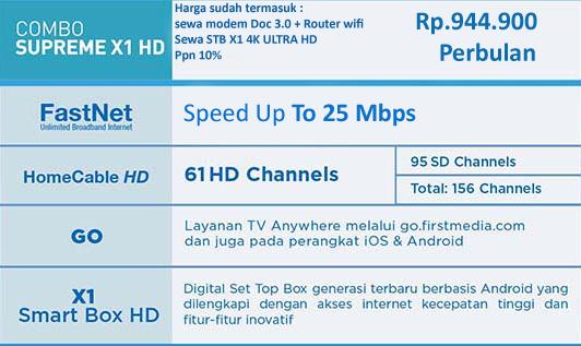 PROMO FIRST MEDIA PAKET COMBO SUPREME X1 4K ULTRA HD