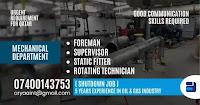 Mechanical Department Job