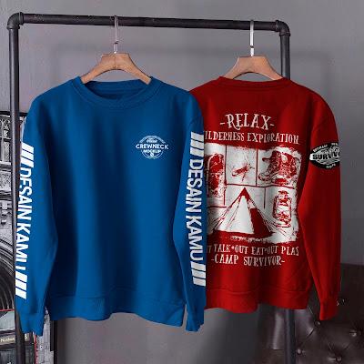 Mockup Sweater Crewneck Depan Belakang Vol.2