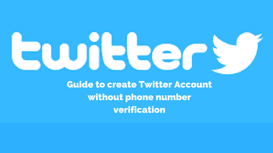 create twitter account without phone verification