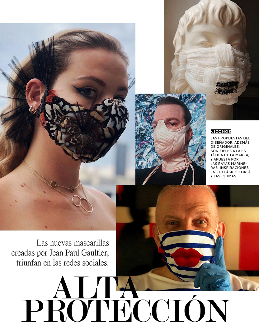Las mascarillas de 'alta costura' firmadas por Jean Paul Gaultier