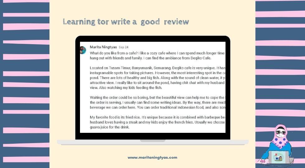 belajar menulis review restoran