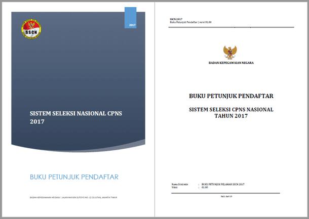 Buku Petunjuk Pendaftar Sistem Seleksi CPNS Nasional Tahun 2017