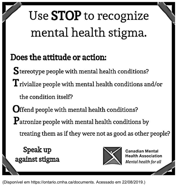 Use STOP to recognize mental health stigma
