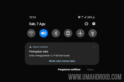 Mengatasi Peringatan Data HP Samsung