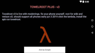 Aplikasi Root Hp android download towel root