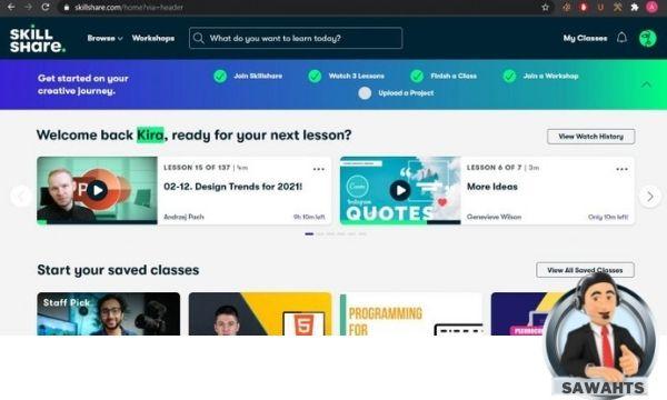 كيفية الحصول علي حساب من موقع Skillshare بريميوم مجاناً