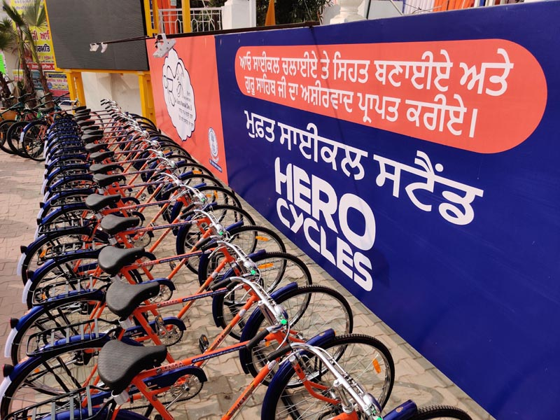 Cycles donated by Hero Cycles